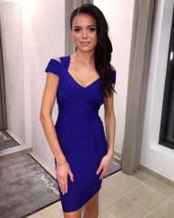 Sinine bandage midi kleit